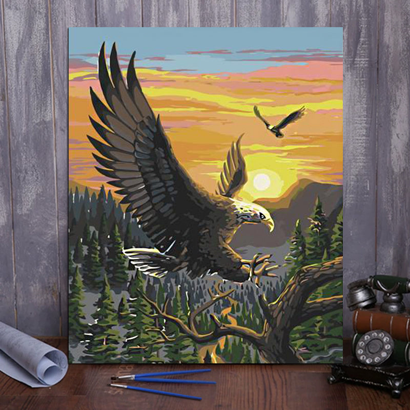 "DIY Painting By Numbers -Eagle-0223  (16""x20"" / 40x50cm)"