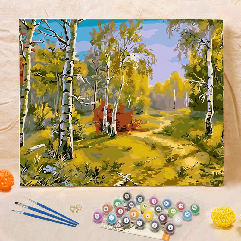 "DIY Painting By Numbers -Autumn yellow-0223  (16""x20"" / 40x50cm)"