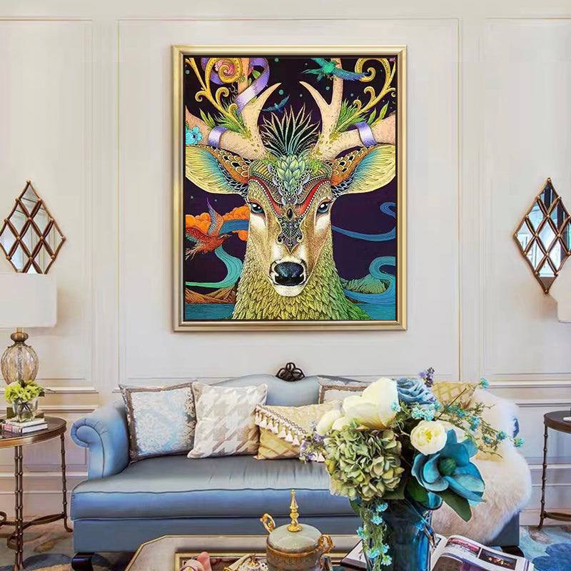 "DIY Painting By Numbers -Deer head-0223  (16""x20"" / 40x50cm)"