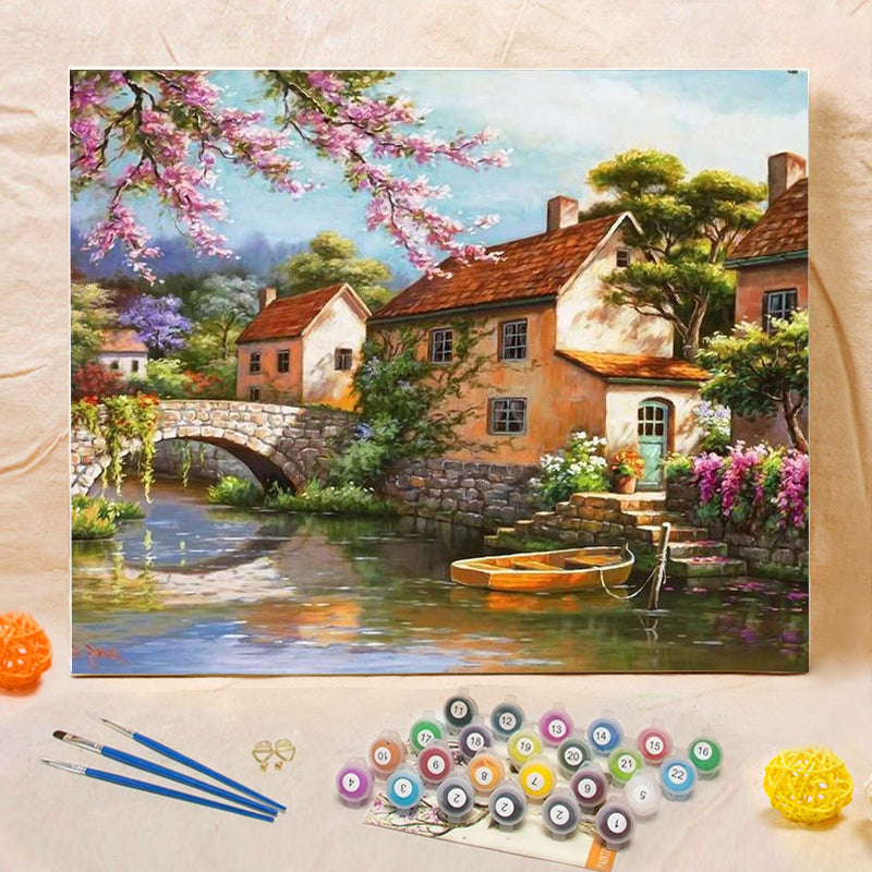 "DIY Painting By Numbers - Countryside Landscape (16""x20"" / 40x50cm)"