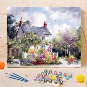 "DIY Painting By Numbers - Rural House (16""x20"" / 40x50cm)"