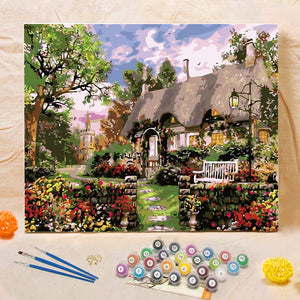 "DIY Painting By Numbers - Cottage(16""x20"" / 40x50cm)"