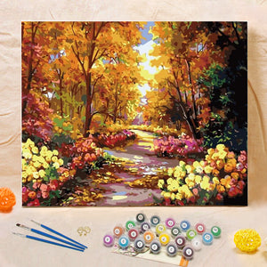 "DIY Painting By Numbers - Beautiful Trail (16""x20"" / 40x50cm)"