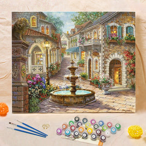 "DIY Painting By Numbers - Fountain (16""x20"" / 40x50cm)"