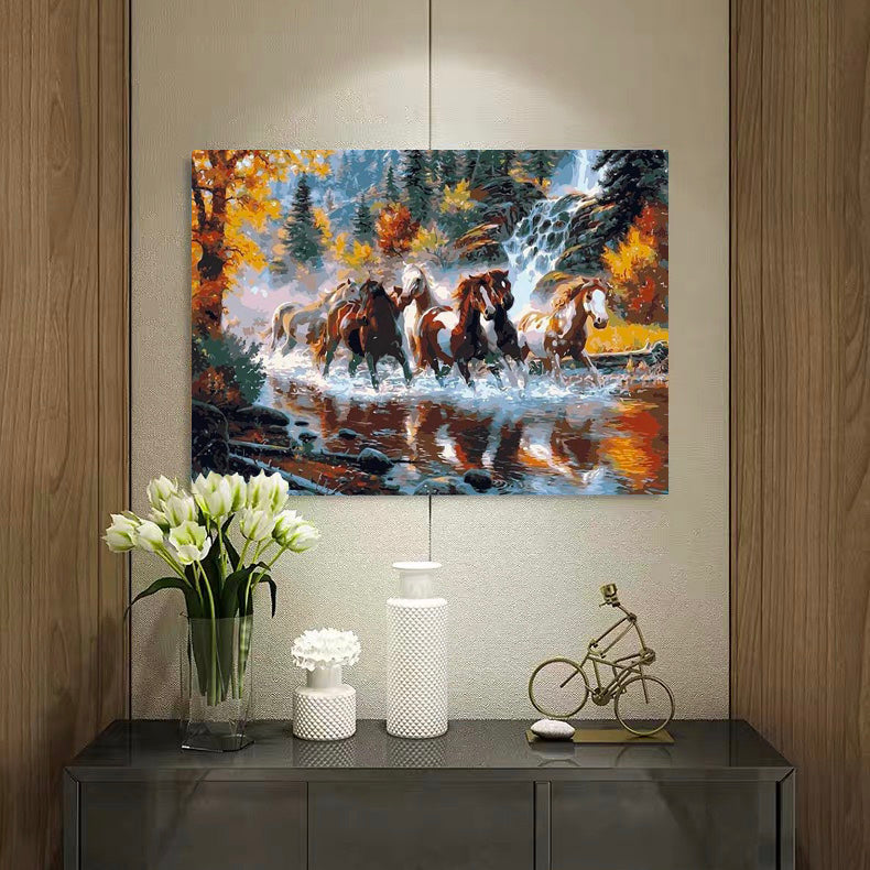 "DIY Painting By Numbers - Running Horses (16""x20"" / 40x50cm)"