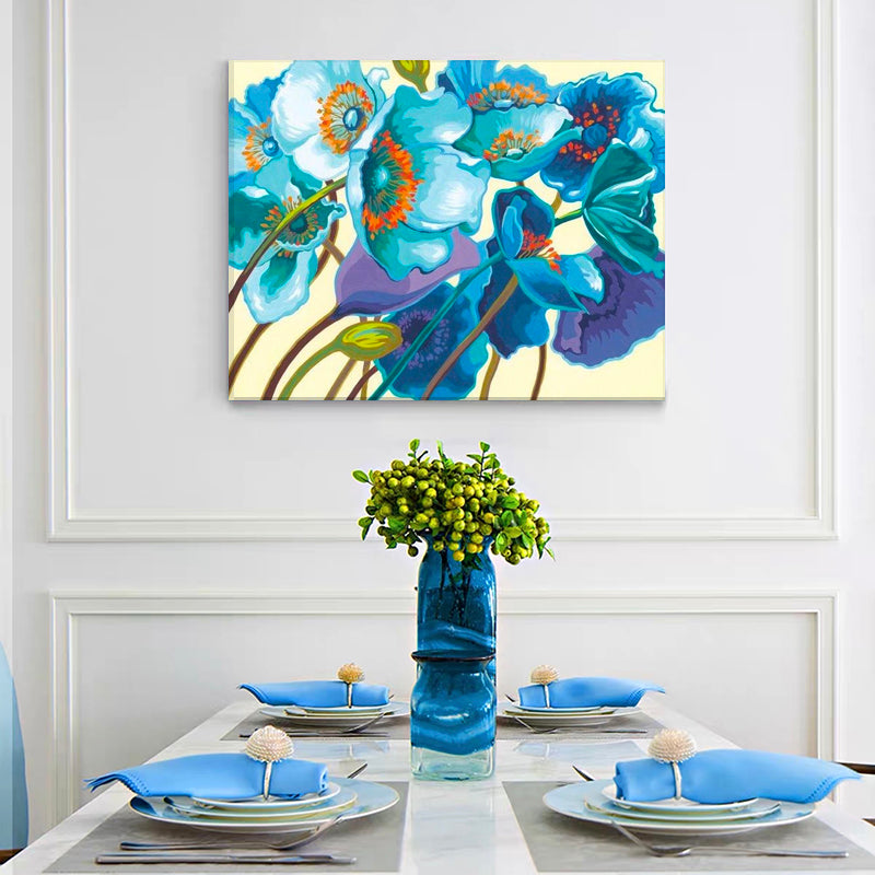 "DIY Painting By Numbers - Blue Flower (16""x20"" / 40x50cm)"