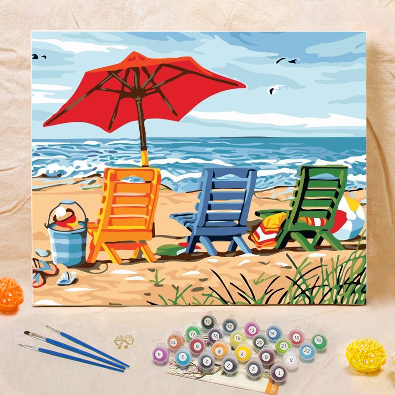 "DIY Painting By Numbers -Vacation (16""x20"" / 40x50cm)"