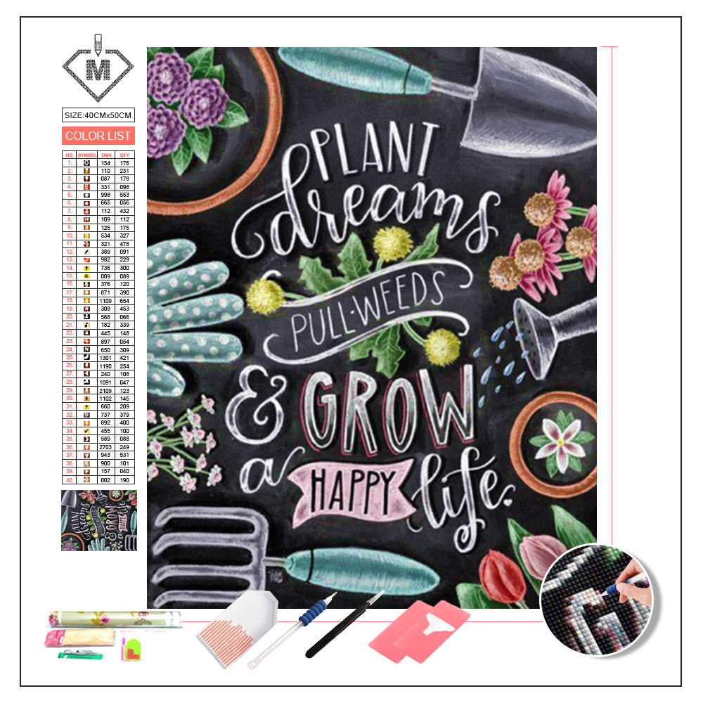 DIY Diamond Painting Kit  - Blackboard doodle