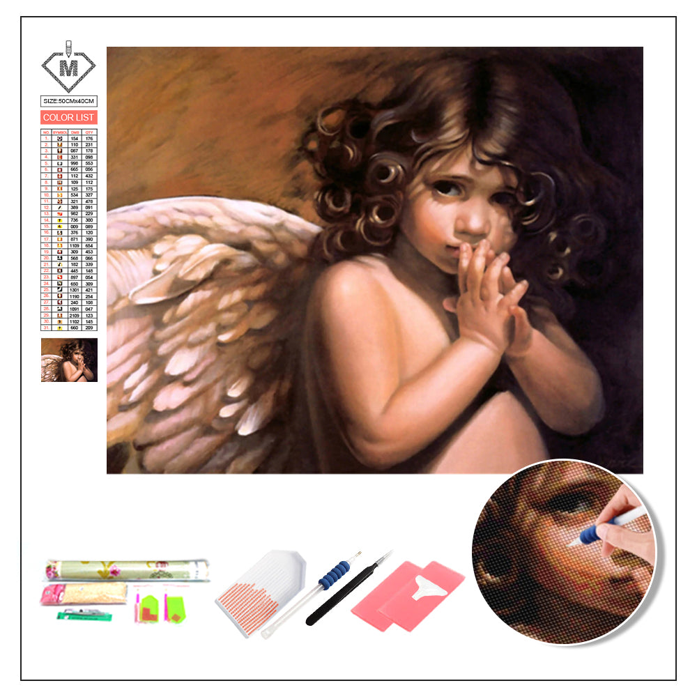 DIY Diamond Painting Kit  - Angel baby