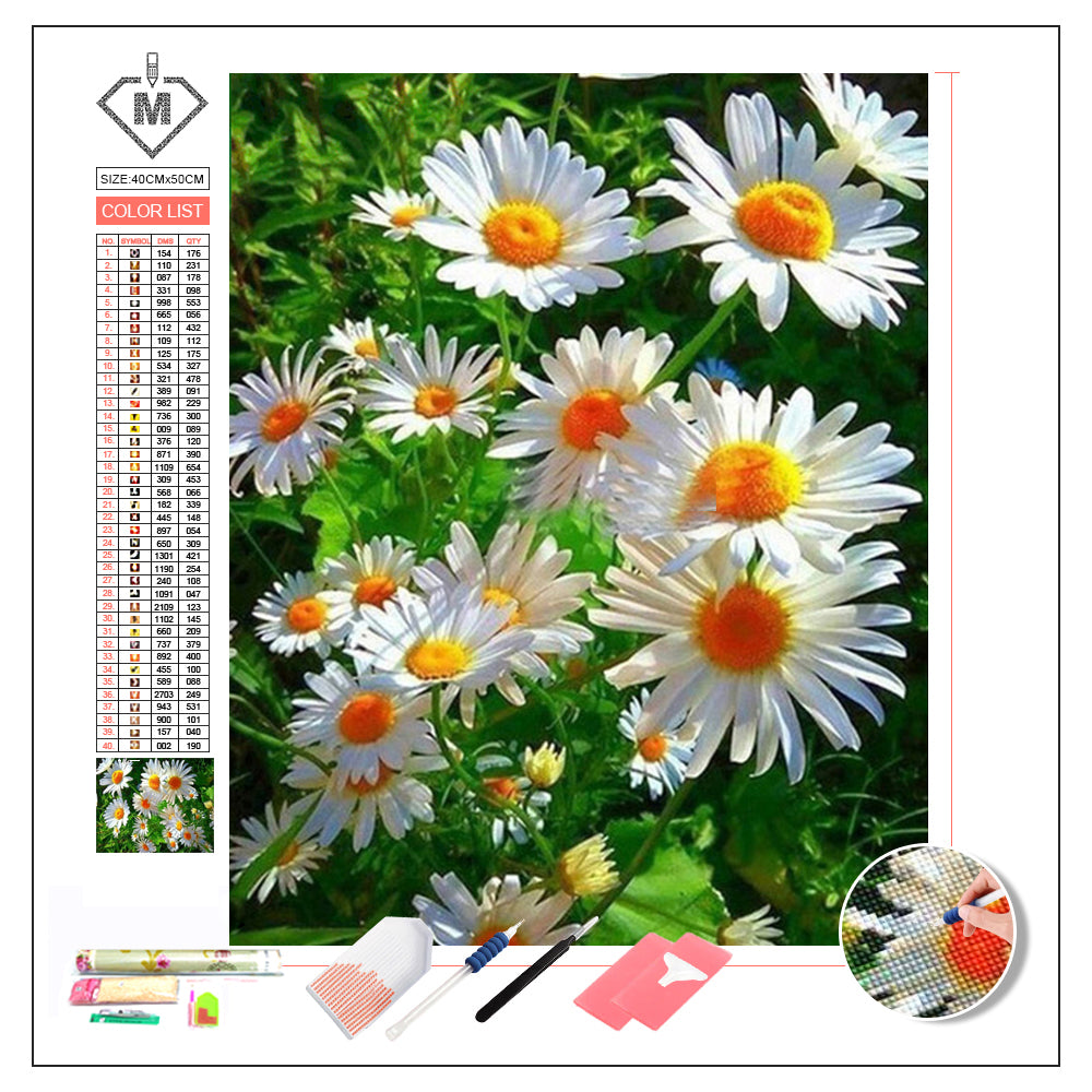 DIY Diamond Painting Kit  - Daisy