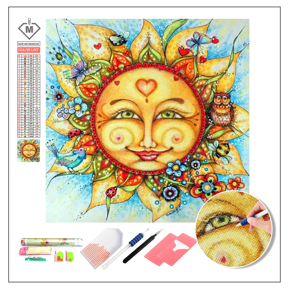 DIY Diamond Painting Kit  - Cartoon sun flower