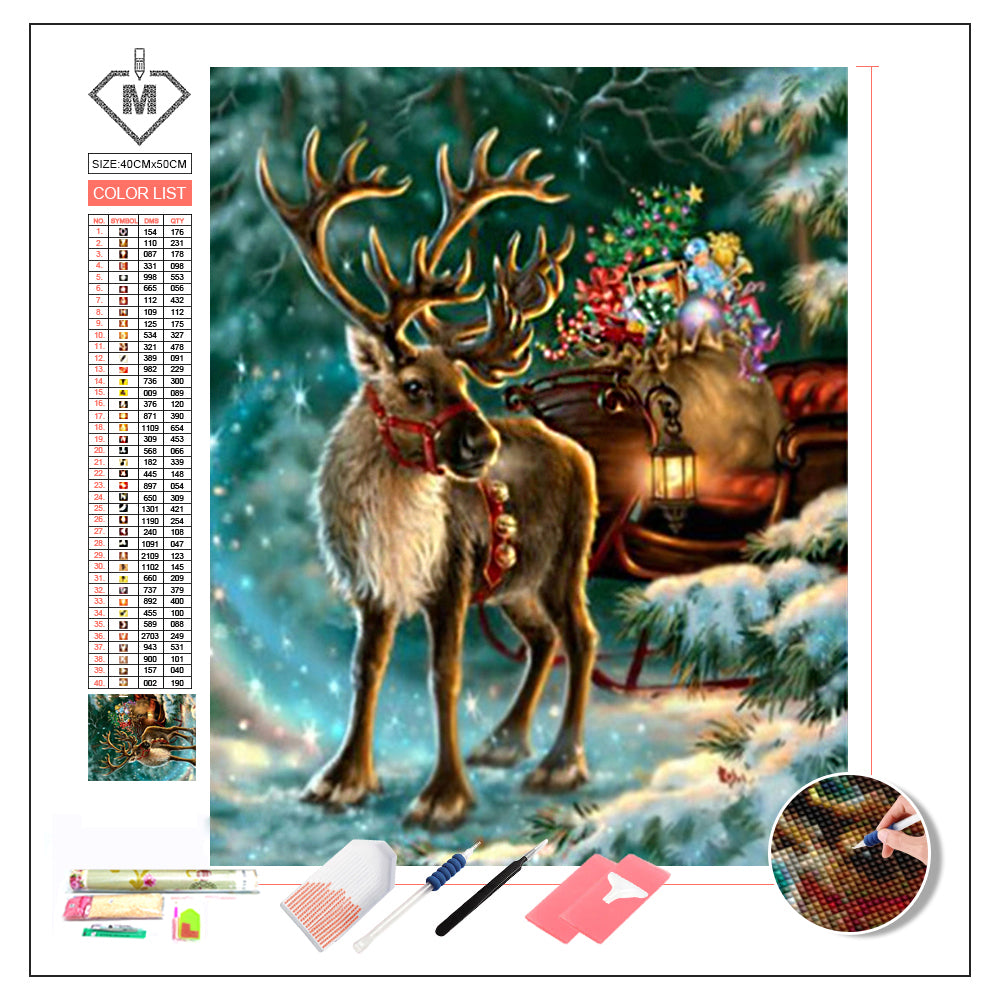 DIY Diamond Painting Kit  - Christmas deer
