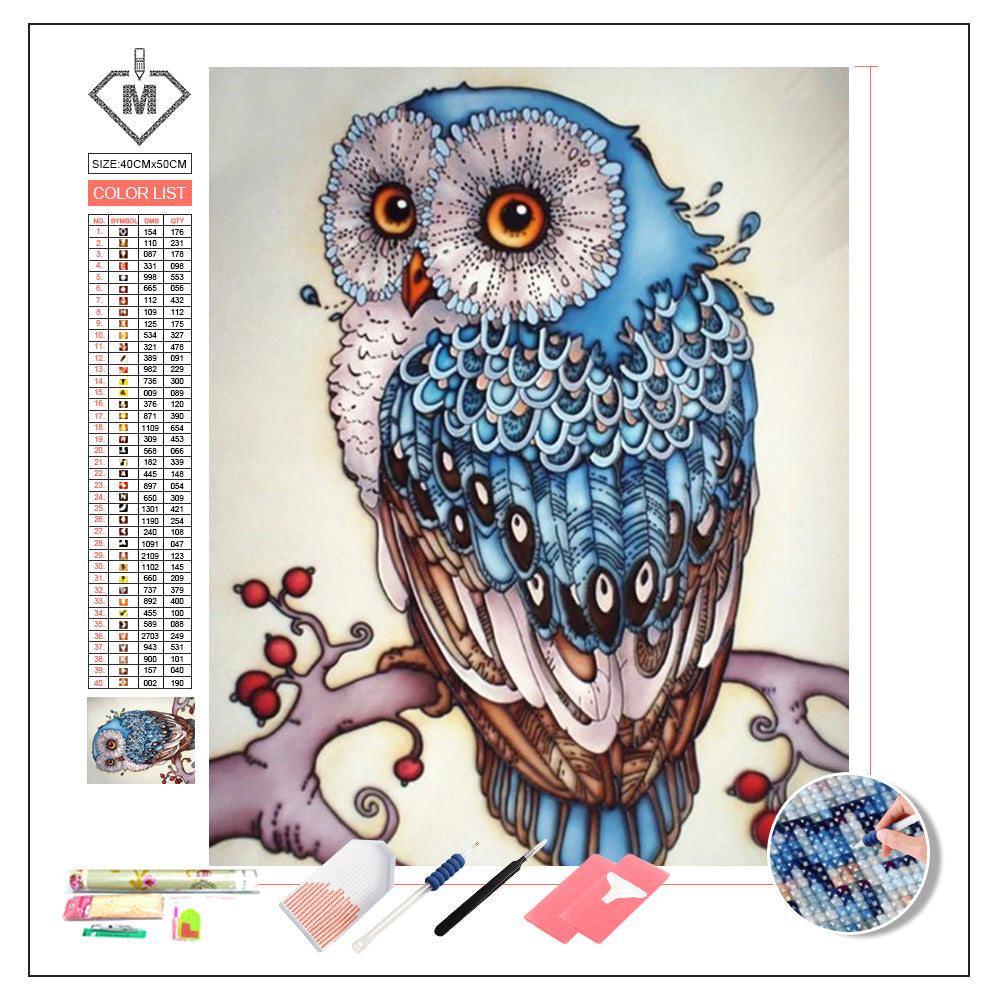 DIY Diamond Painting Kit  - Cartoon owl