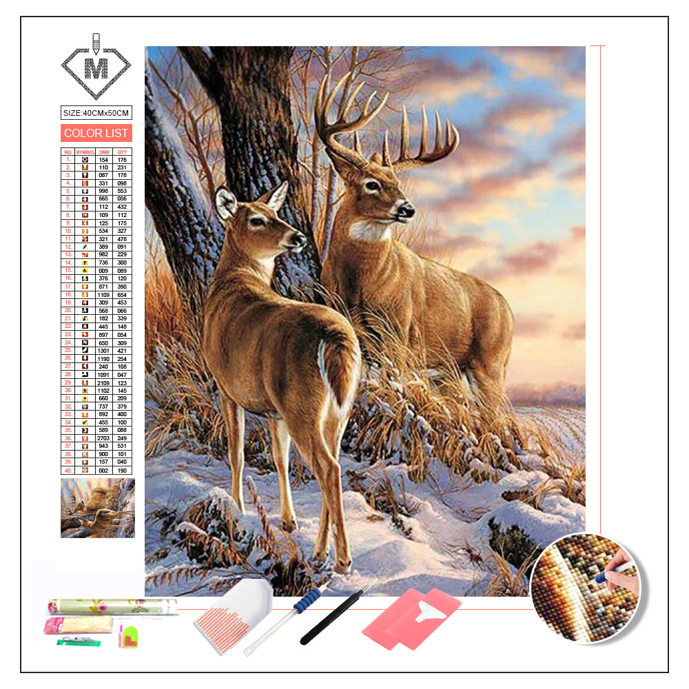 DIY Diamond Painting Kit  - Deer couple
