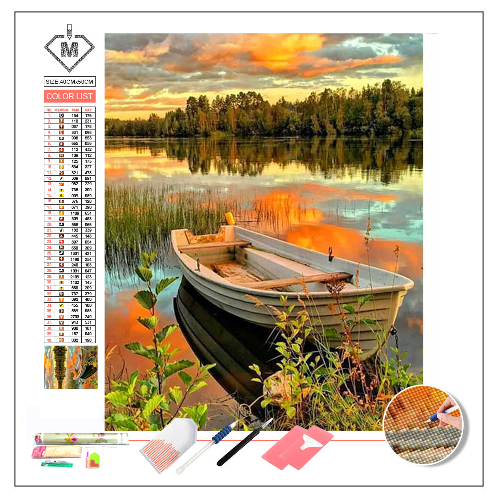 DIY Diamond Painting Kit  - Boat