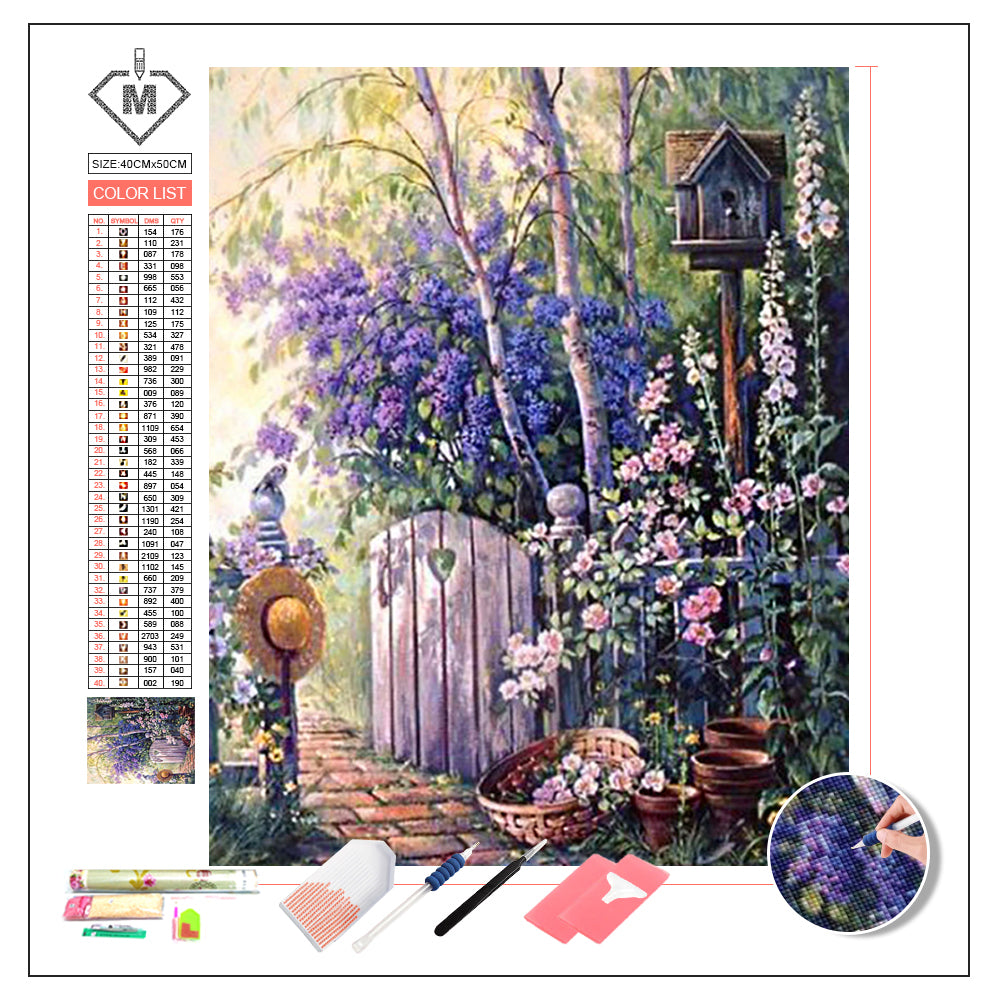 DIY Diamond Painting Kit  - Back yard