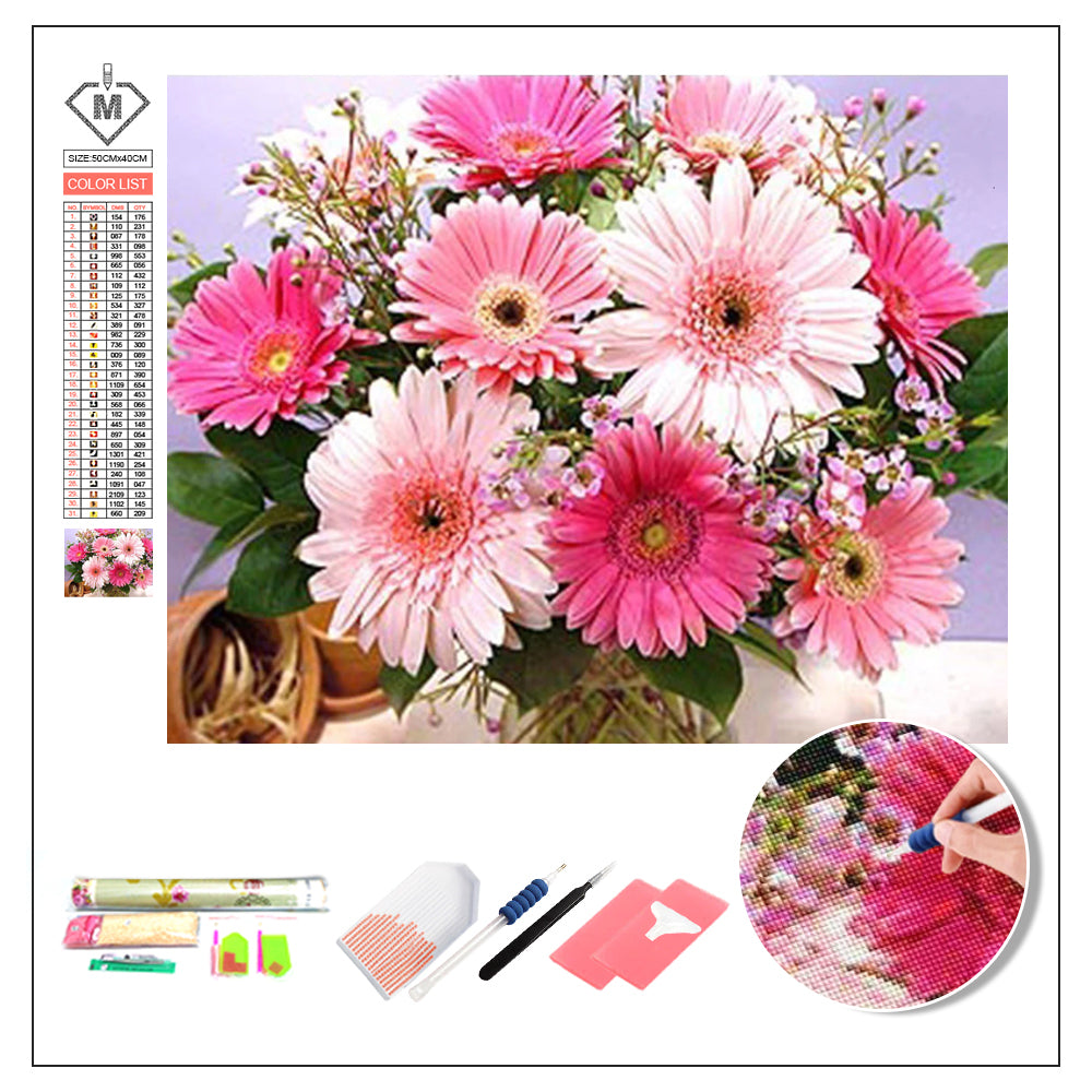 DIY Diamond Painting Kit  - Daisy flower