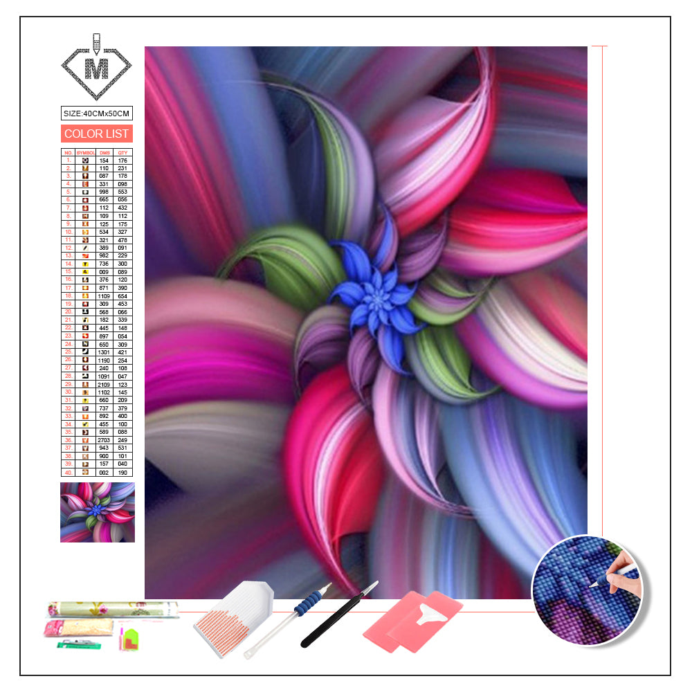 DIY Diamond Painting Kit  - Fantasy flower