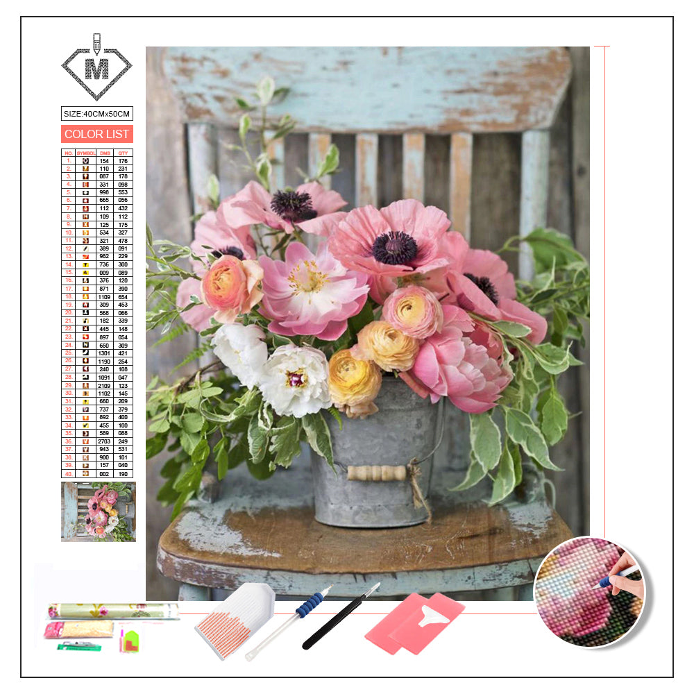 DIY Diamond Painting Kit  - Blooming flower