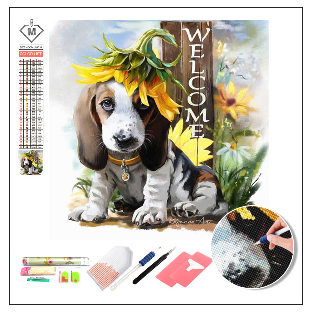 DIY Diamond Painting Kit  - Basset Hound