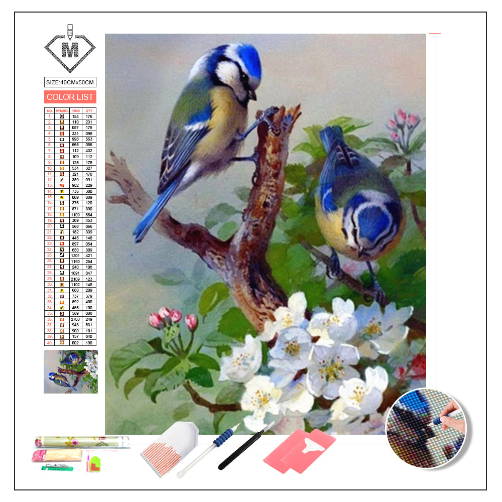 DIY Diamond Painting Kit  - Birds B1030