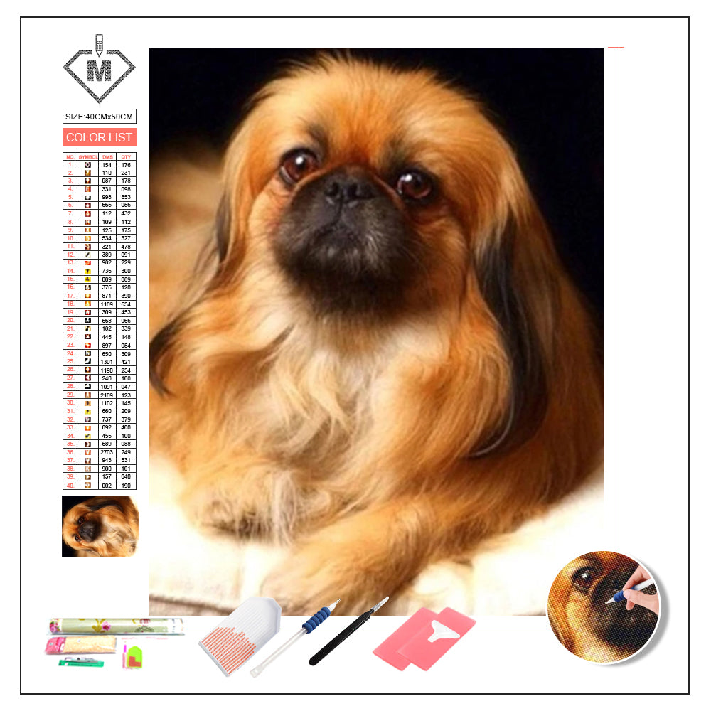 DIY Diamond Painting Kit  - dog