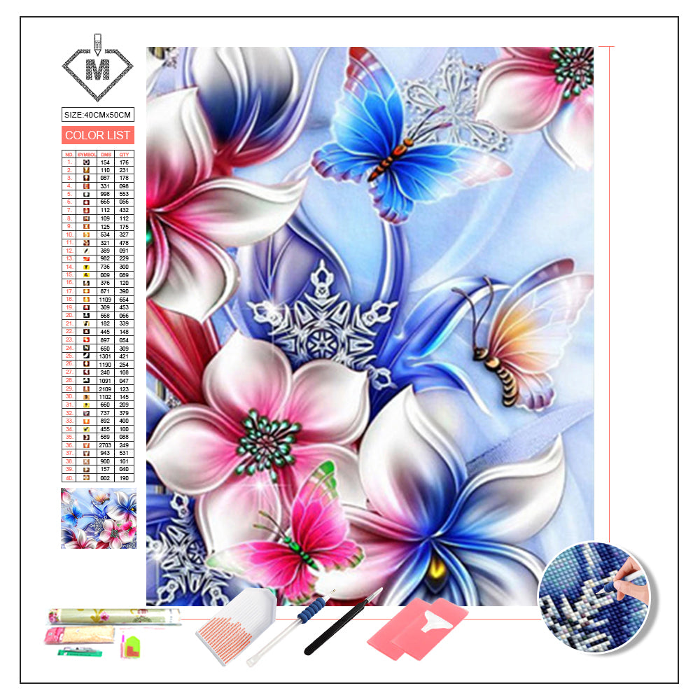 DIY Diamond Painting Kit  - Crystal flower