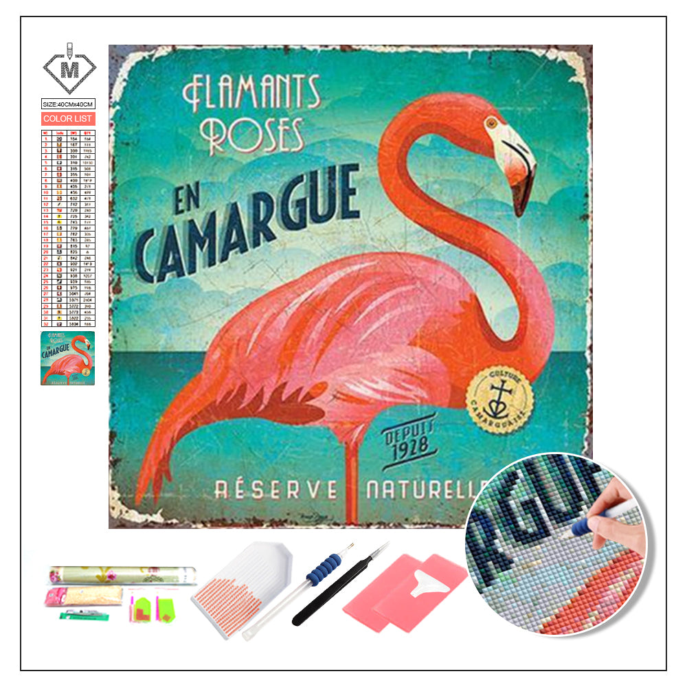 DIY Diamond Painting Kit  - Flamingo B1034