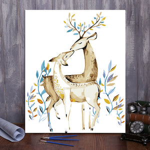 "DIY Painting By Numbers - New Sika Deer (16""x20"" / 40x50cm)"