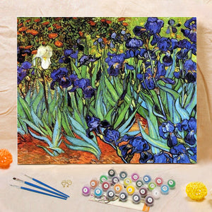 "DIY Painting By Numbers - Irises (16""x20"" / 40x50cm)"