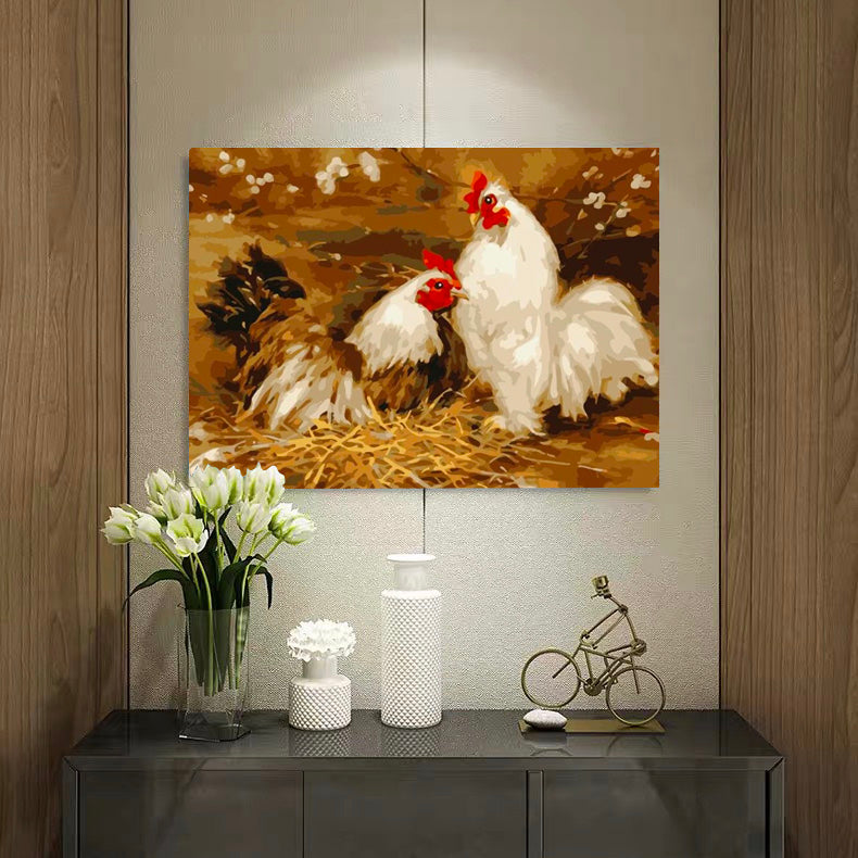 "DIY Painting By Numbers - Chicken(16""x20"" / 40x50cm)"