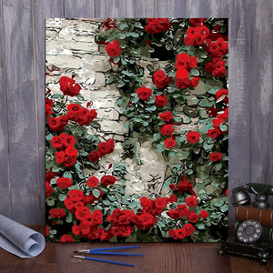 "DIY Painting By Numbers -  Rose  (16""x20"" / 40x50cm)"