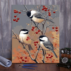 "DIY Painting By Numbers -  Birds On A Branch(16""x20"" / 40x50cm)"