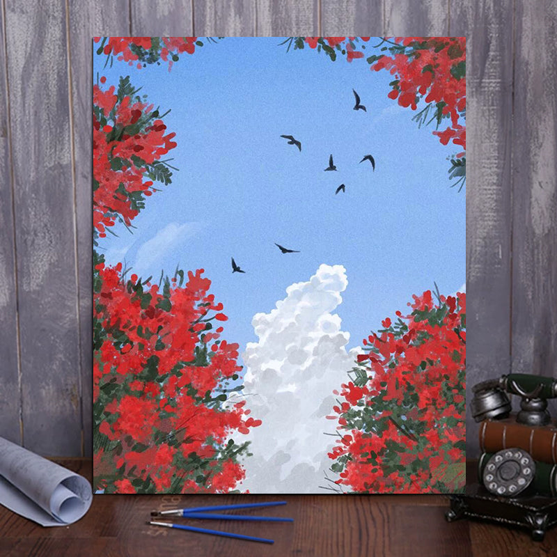 "DIY Painting By Numbers - Rose in the sky (16""x20"" / 40x50cm)"