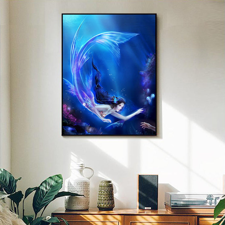 "DIY Painting By Numbers - Mermaid-0223 (16""x20"" / 40x50cm)"