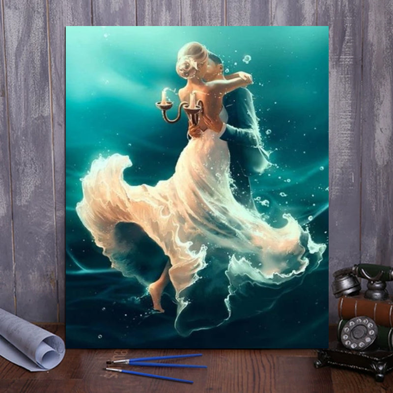 "DIY Painting By Numbers -  Dancing in the water (16""x20"" / 40x50cm)"