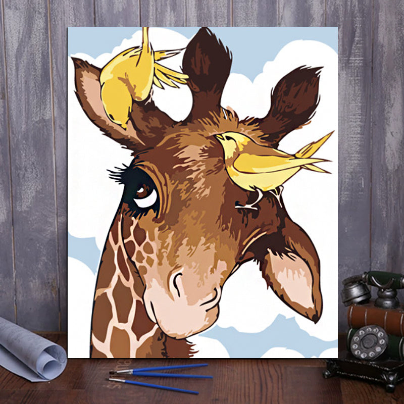 "DIY Painting By Numbers - Cartoon fawn  (16""x20"" / 40x50cm)"