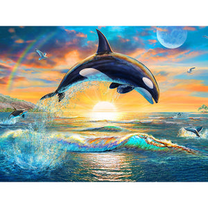 DIY Diamond Painting Kit  - Dolphin