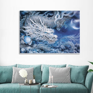 "DIY Painting By Numbers - Ice Dragon  (16""x20"" / 40x50cm)"