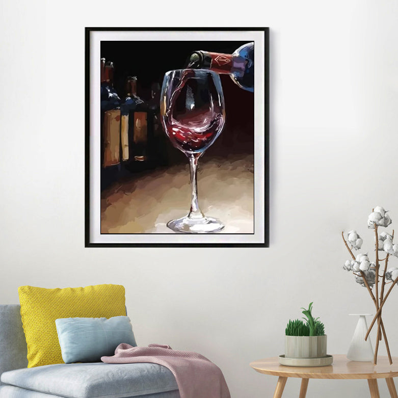 "DIY Painting By Numbers - Red wine (16""x20"" / 40x50cm)"
