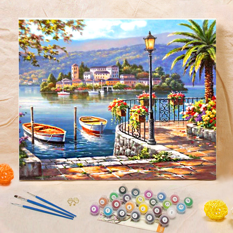 "DIY Painting By Numbers - Lakeside (16""x20"" / 40x50cm)"