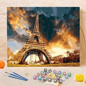 "DIY Painting By Numbers - Eiffel Tower (16""x20"" / 40x50cm)"