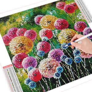 DIY Diamond Painting Kit  - Colored dandelion