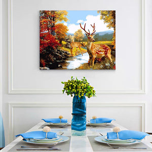 "DIY Painting By Numbers - Deers (16""x20"" / 40x50cm)"