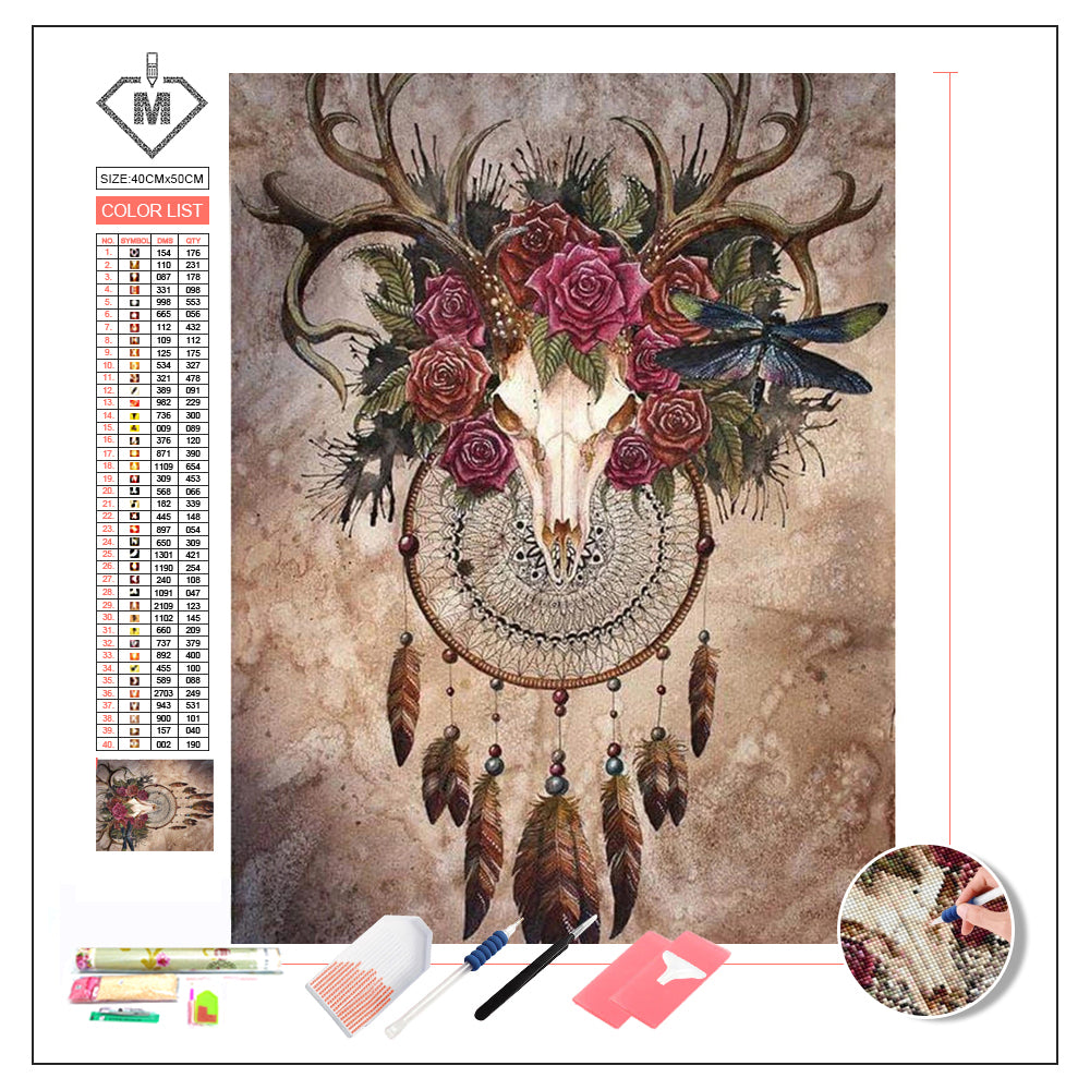 DIY Diamond Painting Kit  - Deer's skull