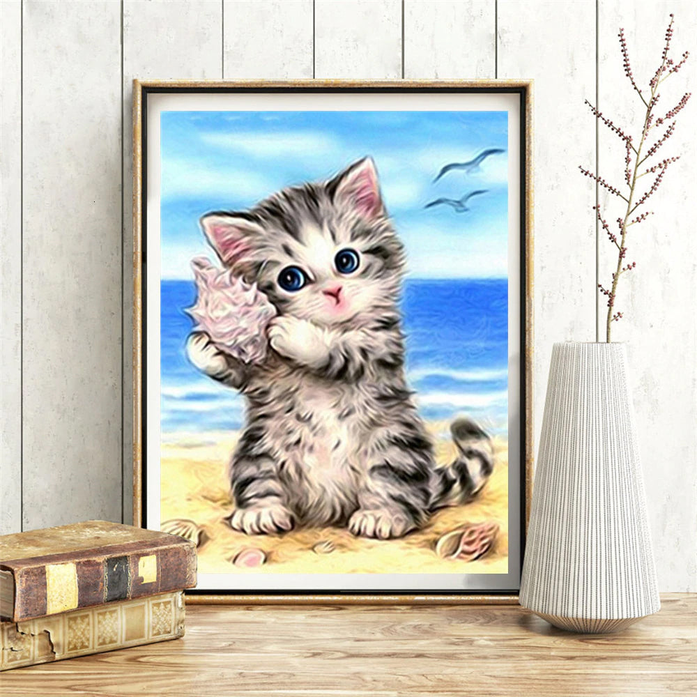 DIY Diamond Painting Kit  - Cat
