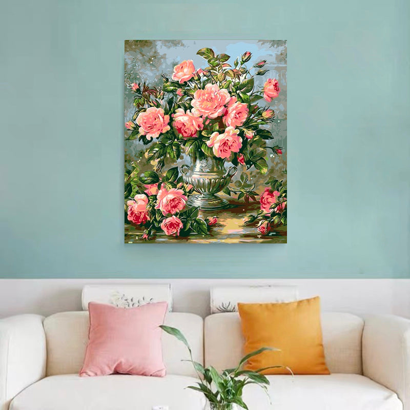 "DIY Painting By Numbers - Rose flowers/20-0113-01 (16""x20"" / 40x50cm)"