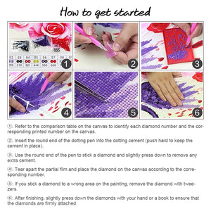 DIY Diamond Painting Kit  - Christmas bird