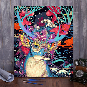 "DIY Painting By Numbers - Christmas Deer (16""x20"" / 40x50cm)"