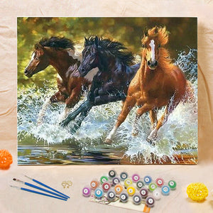 "DIY Painting By Numbers - Running Horse (16""x20"" / 40x50cm)"